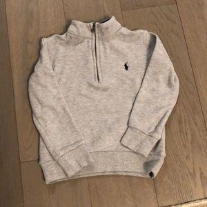 Polo Ralph Lauren Grey Quarter Zipper Sweater